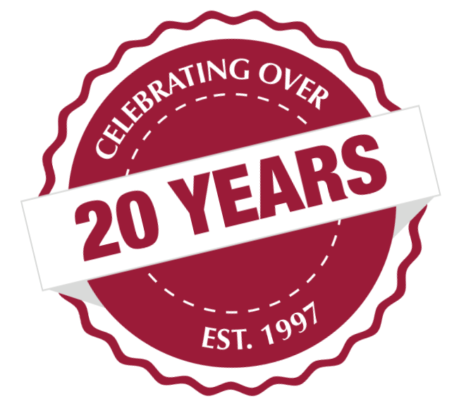 Celebrating Over 20 Years - EST. 1997