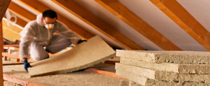Safety when working with loft insulation