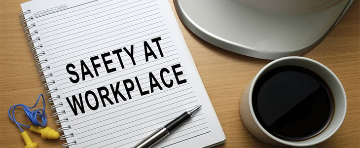 safety at workplace notepad