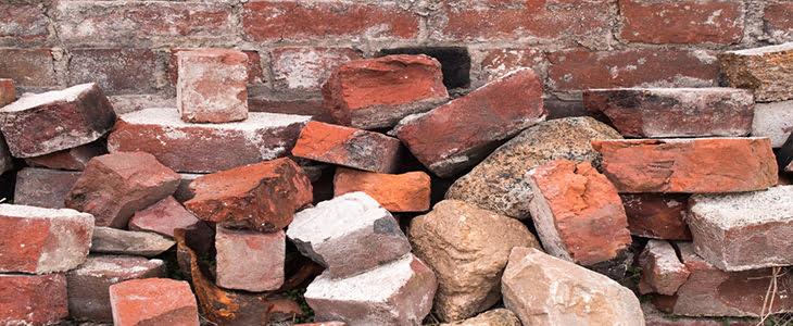 fallen bricks