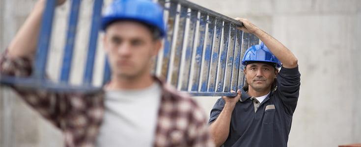 men carrying ladder
