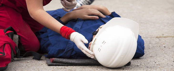 worker unconscious on floor