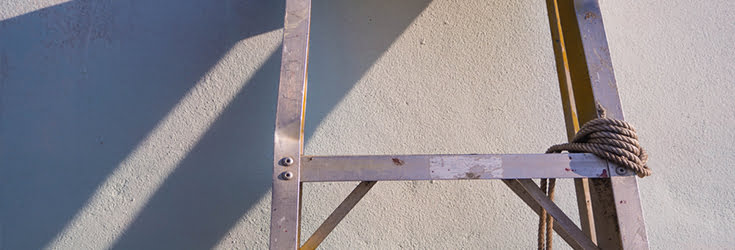 unsecure ladder