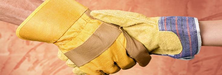 yellow garden gloves