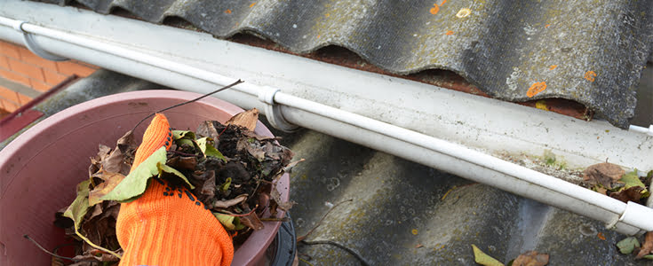 Cleaning out gutters safely