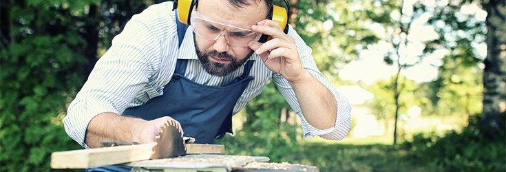 man using DIY safety tips