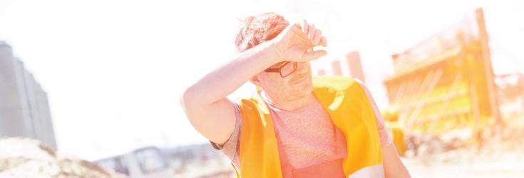 man in sunlight
