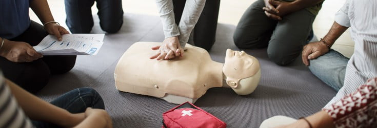 first aid session